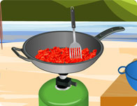 لعبة طبخ اللحم بالفلفل الحار