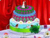 لعبة تزيين تورتة العرس