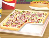 لعبة البيتزا المربعة