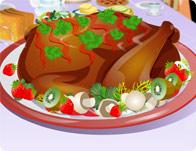 لعبة تزيين الدجاج المشوي