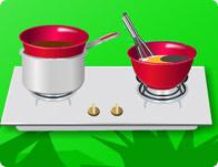 لعبة طبخ الكيك البني