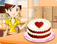 طبخ الكيكة الحمراء