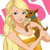 تلبيس باربي مع كلبها