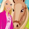 تلوين باربي و الحصان