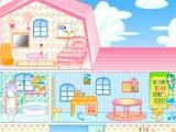 العاب ترتيب ديكور المنزل الوردي