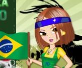 تلبيس مشجعة البرازيل