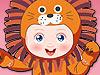 تلبيس طفل ملابس حيوانات