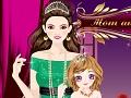 لعبة تلبيس الاميرة و ابنتها الصغيرة