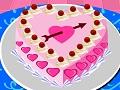 تزيين كيكة عيد الحب