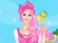 لعبة تلبيس عاشقة الحلوى الوردية